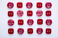 Many Red Square And Round Buttons