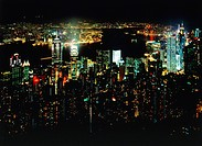 China: Hongkong at night