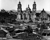 geography / travel, Mexico, Mexico City, churches, Metropolitan cathedral, built: 1573 _ 1667, exterior view, 1950s,