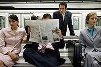 Businesspeople Waiting For Subway Train