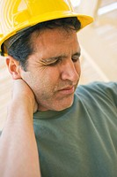 Construction Worker in Pain