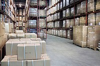 Stocked Warehouse Aisle