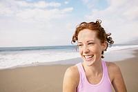 Redheaded Woman on Beach
