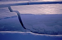 Glacial surges, where a glacier begins to move much faster then its normal velocity, have caused the 1000 year old ice of Sidujokull glacier to crevic...