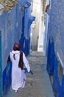 medina of Chefchaouen, Rif region, Morocco, North Africa