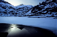 Laguna Grande and Circo de Gredos in Winter, Avila, Spain