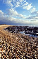Beach of pebbles, Belinho, Parque Natural do Litoral Norte, Esposende, Minho, Portugal