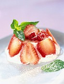 fromage frais with summer fruit