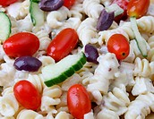 Pasta Salad Close Up