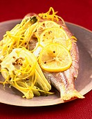 sea bream with preserved fennel and citrus zest
