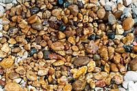 Oil covering rocks