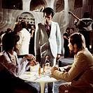 movie, Der Zeuge, DEU 1971, director: Reinhard Mieke, scene with: Ann Helstone, Derval de Faria, Rolf Boysen,