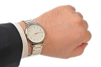Wristwatch on hand