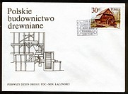 Fdc Poland envelope_Polish wooden architecture
