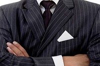 folded hand of businessman