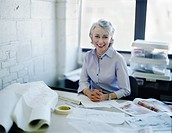 Mature Businesswoman at Desk