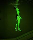 Man Swimming Just Below Surface