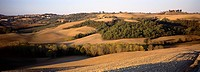 Quiet countryside of Tuscany, near the town of San Quirico d´Orcia, Italy.