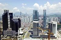 Modern metropolis cityscape