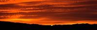 Sun Below the Horizon in Death Valley