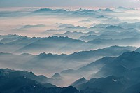 Mountain Peaks in Fog