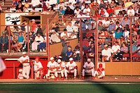 Billings Mustangs Baseball Players in Dugout