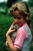 Danielle Krause holds a 5_day_old Florida panther kitten. Florida panthers are an endangered species. Immokalee, Florida