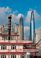 shanghai pudong view from puxi