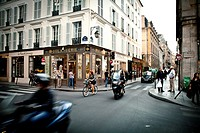street scene in Le Marais, Ile de France, Paris, France