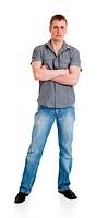 Sports guy in jeans