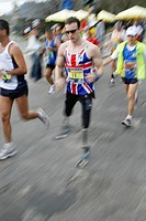 disabled british runner at the rome marathon 2008