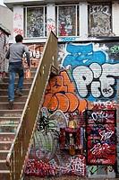 Toulouse. Haute Garonne. Graffiti.