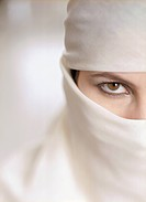 Close Up of Woman Wearing Burka