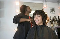 Woman Getting Haircut