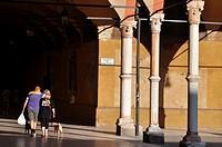 Bologna (Italy): the Portico dei Servi, along Strada Maggiore