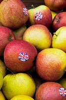 To encourage local sales British apples are labelled with little British flags