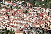 The perched village of Peille Alpes-Maritimes, 06, Cote d'Azur, PACA, France, Europe