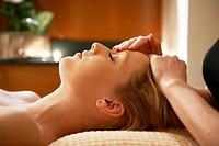 Young Woman having a Facial massage