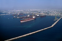 Dubai UAE Aerial View Of Dry Dock