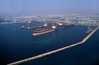 Dubai UAE Aerial View Of Dry Dock