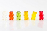 row of jelly bears