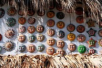 Santo Domingo masks decorated terracotta