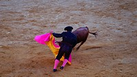 Traditional corrida bullfighting in spain