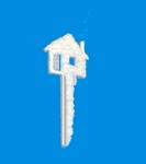 house key dream cloud on blue
