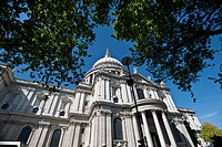 St. Paul's Cathedral against blue sky