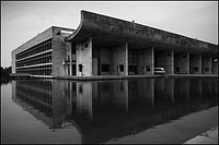 Assembly Building and Reflecting Pool, Chandigarh, India