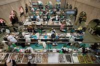 A fish market in Pontevedra, Spain