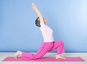 Senior woman doing exercise