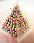 A pièce montée made of colourful macaroons France