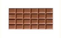 High quality handmade milk chocolate bar isolated